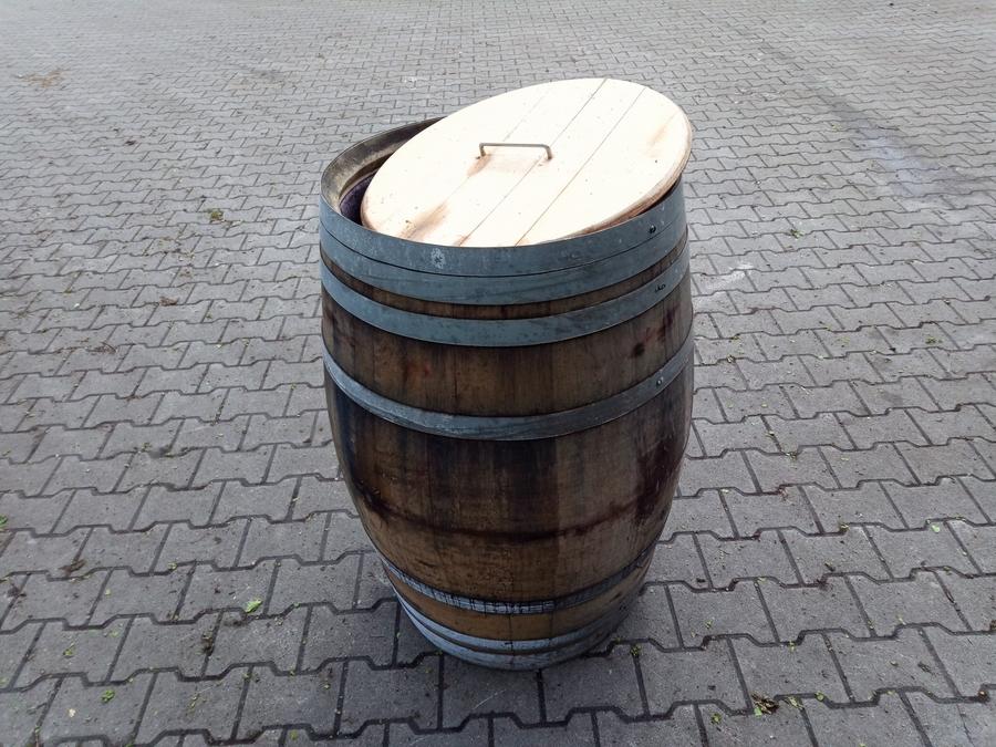 Weinfass, Rotweinfass aus Eichenholz Barrique -Palermo- á 225 Liter (mit Deckel)