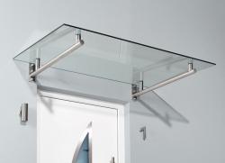 Haustürvordach Edelstahlvordach HD 160 x 100 x 19,5 cm