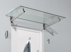 Haustürvordach Edelstahlvordach HD 140 x 80 x 19,5 cm