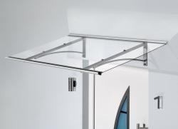 Haustürvordach Pultvordach PT/G 160x90x27 cm