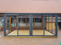 Gartenzimmer Bremerhaven 300x250 weiss Selbstaufbau ohne Montage